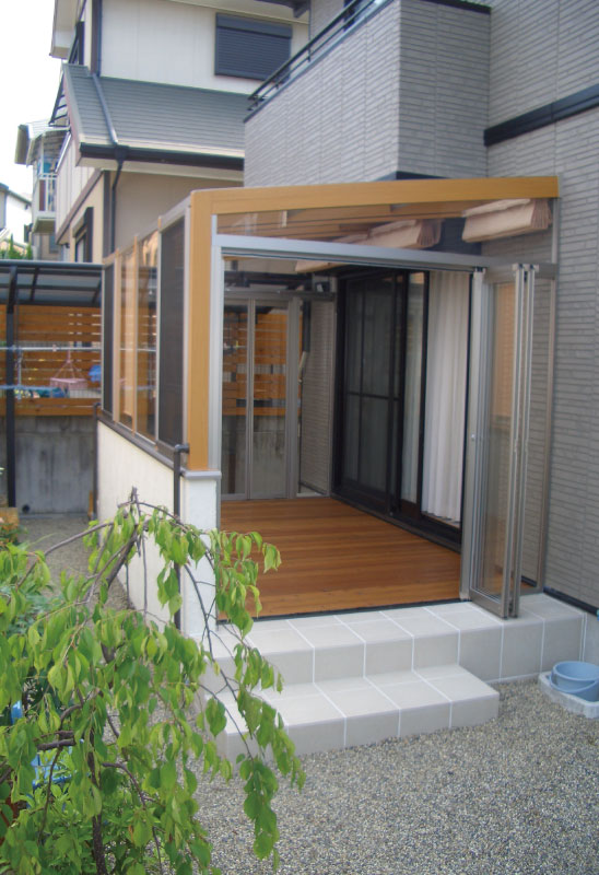 ガーデンルーム ココマ 特殊な設置例
