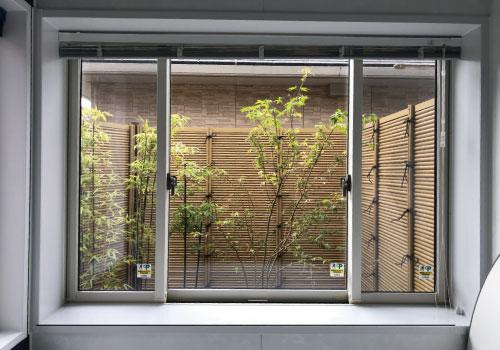 竹垣の見える空間