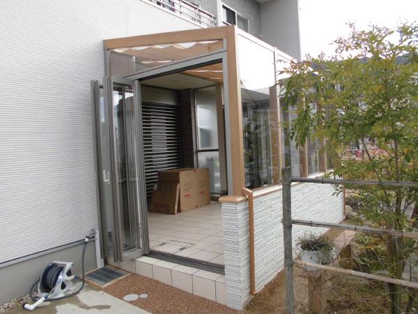 ガーデンルーム ココマⅡ ベランダ下納まり施工例